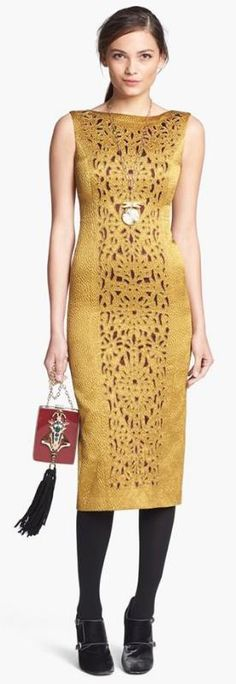 Gorgeous! Gold Tory Burch Dress Love this dress...