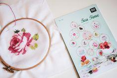 tea-time, cross stitch