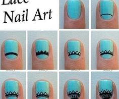 Diy Lace Nail Art!