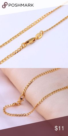 New! Gold Plated Necklace For Men & Women 26 inches. New Without Tags. See Other Colors & Sizes On My Closet. Jewelry Necklaces