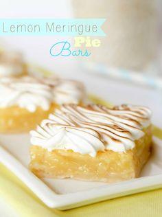 Lemon Meringue Pie Bars -- so much easier to cut and eat than pie :)