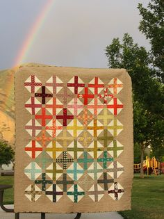 Spectrum Plus Modern Quilt by Amy Smart using her Hopscotch pattern.