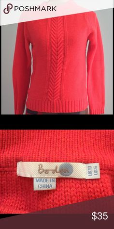 Sweater by Boden Great sweater by Boden in a beautiful bright pink. Boden Sweaters Crew & Scoop Necks