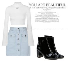 """""""Untitled #92"""" by hibiah on Polyvore featuring MINKPINK, Off-White and Yves Saint Laurent"""