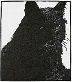 Barry Moser : Untitled (Black Cat) at Davidson Galleries