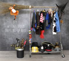DIY Kids' Dress-Up Rack