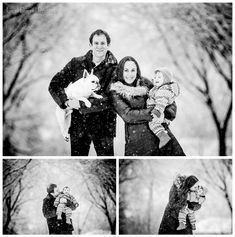 Holiday Family Portrait Session Inspiration Snow White Black Photographer Dog Baby Winter Christmas Hannukuh Liesl Diesel