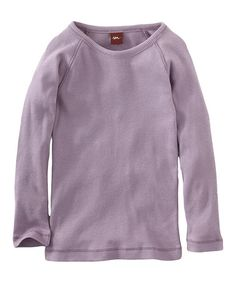 Take a look at this Antique Purple Ribbed Purity Tee - Infant & Girls by Tea Collection on #zulily today!