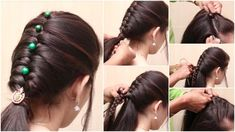 New braid hairstyle for girls - Simple Craft Ideas simple girls hair style - Hair Style Girl New Simple Hairstyle, New Braided Hairstyles, Cool Hairstyles For Girls, Simple Wedding Hairstyles, African Hairstyles, Pixie Hairstyles, Hairstyle Short, New Hair Style Girls, Style Hair