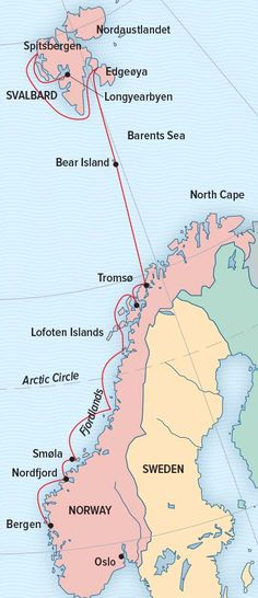 Norway's Fjords and Arctic Svalbard, Arctic Itinerary Day by Day - Lindblad Expeditions                                                                                                                                                                                 More