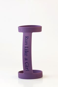 'Run Like a Girl' Bottle Band. A great running accessory to carry any water bottle via bottleband.net