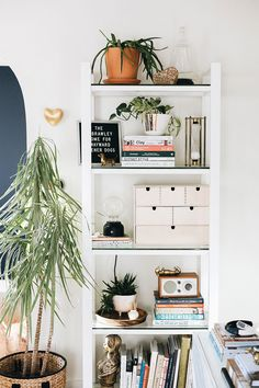 Cheap Home Decor How to Decorate with Large Indoor Plants in a Small Space. Home Decor How to Decorate with Large Indoor Plants in a Small Space. Bedroom Plants, Home Decor Bedroom, Room Decor, Bedroom Ideas, Home Decor Trends, Home Decor Inspiration, Decor Ideas, Large Indoor Plants, Wood Floating Shelves