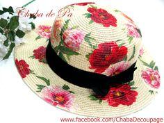 Decoupage Hat by Chaba de Pa