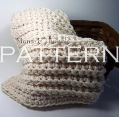 Baby Blanket Chunky Fisherman Throw  Crochet by MouseAndThimble, $3.95