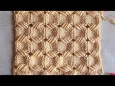 Knitting Stitch Patterns Tutorial 4 Honeycomb Knitting Stitch How to - YouTube