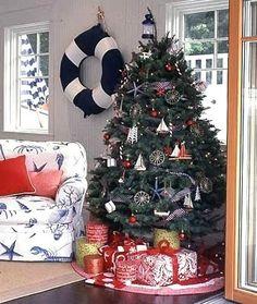 25 Coastal Christmas Holiday Trees Inspired by the Sea