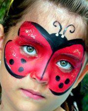DIY Ladybug Face Paint #DIY #FacePainting #Ladybugs #Birthdays #Birthday #Parties #Party