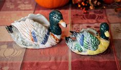 2 Mallard Duck Planters Made in Occupied Japan by AmericanVintageAve on Etsy