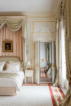 Ritz Paris Bedroom www.bocadolobo.com #hotelroom #hotellobby #hotelinterior #hoteldesign Boutiquehotel #hotelideas #hotelinteriors