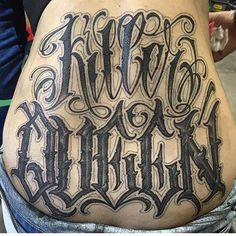 Wicked script tattoo by Norm Will Rise - ☆☆tattoos☆☆ - Art Tattoo Lettering Styles, Chicano Lettering, Tattoo Script, Graffiti Lettering, Tattoo Fonts, Script Lettering, Typography, Wicked Tattoos, New Tattoos