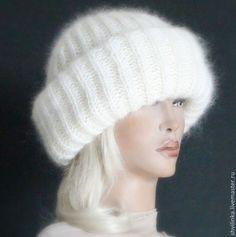 """Шапки ручной работы. Ярмарка Мастеров - ручная работа. Купить """"А-ля"""" шапка вязаная  молоко. Handmade. Белый, шапки"""