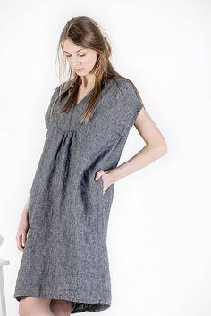 Linen dress, natural linen clothing, plus size linen dress, dress for women, women linen loose dress
