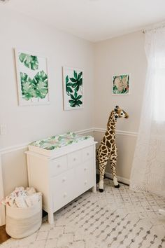 The Sweetest Niece! Baby Marley + Her Pretty Tropical Nursery Tour - The Sweetest Occasion - Florida Newborn Photos + Tropical Nursery Tour Baby Room Design, Nursery Design, Baby Room Decor, Nursery Room, Nursery Themes, Nursery Ideas, Themed Nursery, Bedroom, Nursery Decor