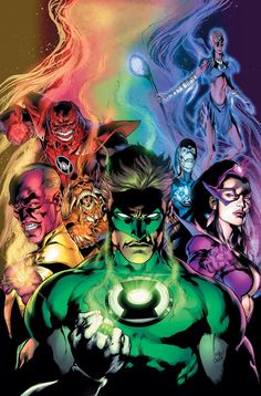 Blackest Night - All Lantern Corps by Ivan Reis and Oclair Albert
