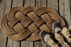 Nautical Decor -  Front Door Welcome Rope Rug - (31 x 18) by OYKNOT on Etsy https://www.etsy.com/listing/170012854/nautical-decor-front-door-welcome-rope