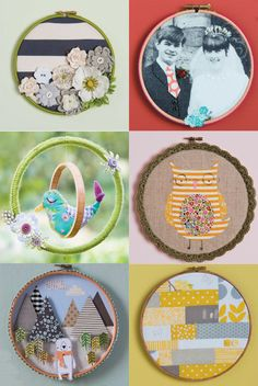 Hoop La! Things to do with embroidery hoops!