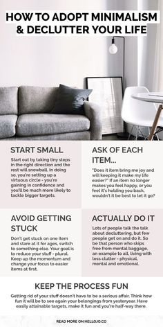 How to start with minimalism and declutter your life- 5 Simple tips to keep your. How to start with minimalism and declutter your life- 5 Simple tips to keep your place tidy & organ