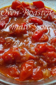 A really delicious oven-roasted tomato sauce.