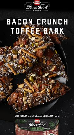 BLACK LABEL® Lower Sodium Bacon made with sea salt is now available online. Pick some up to make this Bacon Crunch Toffee Bark. Bacon Recipes, My Recipes, Favorite Recipes, How To Make Paper Flowers, Giant Paper Flowers, Bacon Meat, Toffee Bark, Sugar Pie, Candied Bacon