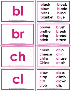 Worksheets Flash Card For Reading 1000 images about reading on pinterest consonant blends beginning flash cards with a special bonus these have up to