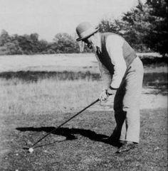 Constantin Brancusi playing golf, Fontainebleau, 25 Sept. 1923