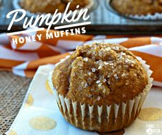 These pumpkin honey muffins are easy to make and made with honey instead of sugar! They're also an easy breakfast option for weekdays or holidays!