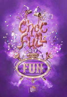 Cadbury Choc-Full of Fun on Behance #3D #design #poster