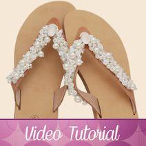 sandali gioiello aurora Tutorial, Video, Aurora, Swarovski, Wedding, Rhinestones, Valentines Day Weddings, Weddings, Mariage