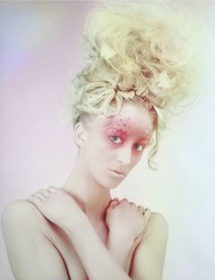 Avant garde makeup by me, beauty shot by Sara Callow photography