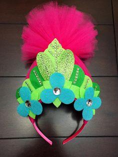 poppy headband trolls crown trolls birthday crown trolls