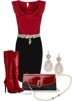 elegant fall outfits | Nice & elegant. | Fall and Winter fashion  #red..... OMG!!! OMG!!!! OMG!!!!!!! I would LOVE to have this outfit!!!!!!!!