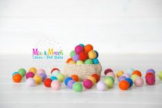 Hey, I found this really awesome Etsy listing at https://www.etsy.com/listing/227013785/15cm-tiny-wool-felt-balls-colorful-felt
