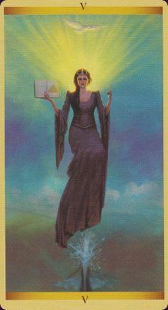 Tarot of the Sacred Feminine: The Hierophant                                                                                                                                                      More
