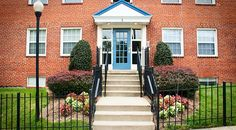 A Bright Blue Door Welcomes Residents Home at Crescent Park Village in Southeast Washington DC | WC Smith #Apartments | Anacostia #Rentals