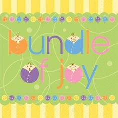 Design Bundle of Joy Luncheon Napkin, 20 per Set,  (Pack of 2) by Design Design. $4.03. Full color. Lucheon napkins. 3 ply tissue. Design Design currently offers over 15,000 products. All the products are designed by their art department of 25 people and are manufactured to their specifications by vendors all over the world. Design Design product categories include social expression products, paper tableware, gift packaging products, soft goods, ceramic, metal, and other...