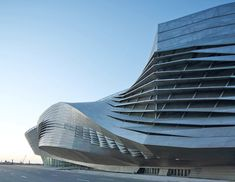 Dalian International Conference Center, Liaoning, China - by Coop Himmelb(l)au Pavilion Architecture, Architecture Tattoo, Sustainable Architecture, Residential Architecture, Amazing Architecture, Contemporary Architecture, Architecture Design, Futuristic Architecture, Garage Door Maintenance