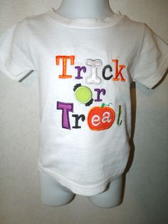 Toddler Boys Halloween Trick or Treat Shirt size by rowanmayfairs, $22.00