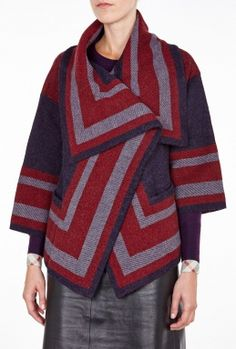 Graphic Short Knit Jacket By Burberry Brit