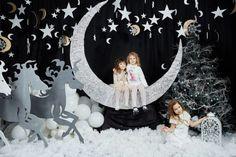 Новогодняя фотосъемка в студии Фотококтейль. 3 декорированных фотозоны.