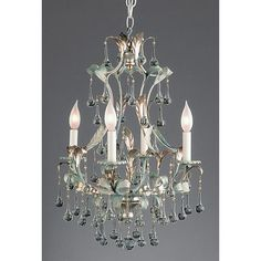 """24"""" H x 17"""" W. I ordered this for the office-not available thru the Gallery. KjL Bradburn Crystal Droplet Chandelier. 1078."""